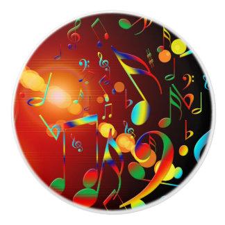 Dancing Musical Notes Ceramic Knob