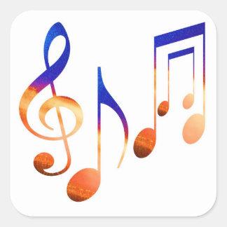 Dancing MusicAL Signs SYMBOLS SHEET MUSIC Square Sticker