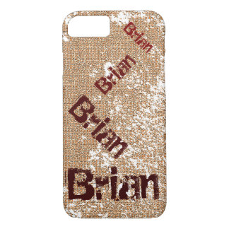 Dancing Name Distressed Grunge iPhone 7 Case
