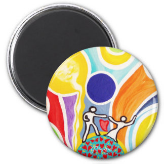 Dancing On Moonbeams 2 Inch Round Magnet