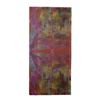 Dancing on Red Abstract Design Napkin