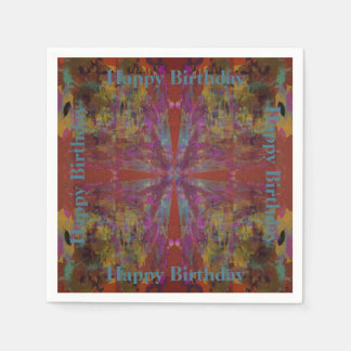 Dancing on Red Abstract Design Paper Napkin