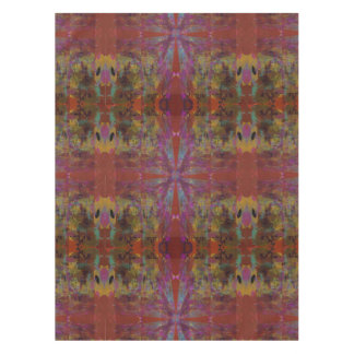 Dancing on Red Abstract Design Tablecloth