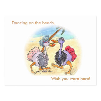 Dancing on the beach..., Wish you were here Postcard