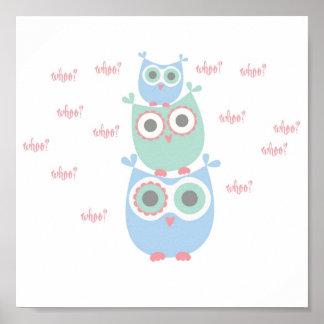 Dancing Owls Poster