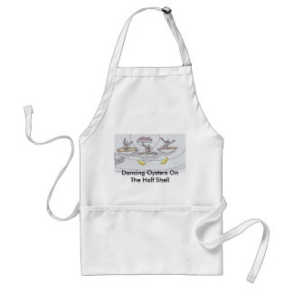 Dancing Oysters On Half Shell Design Apron