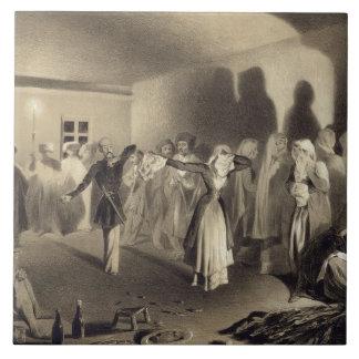 Dancing Party at Kagha-Choura, Dagestan, plate 55 Ceramic Tiles