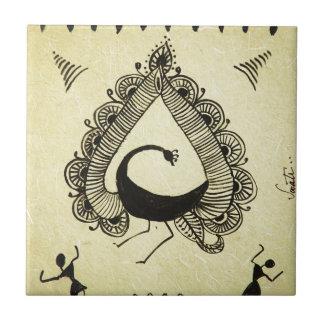 dancing peacock ceramic tiles