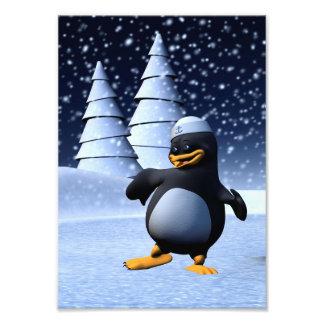 Dancing Penguin Photographic Print