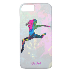 Dancing People Abstract Colours iPhone 7 Case