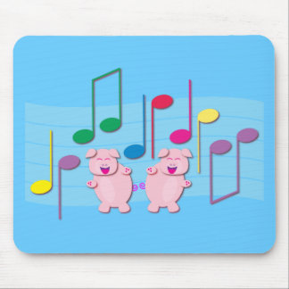 Dancing Piglets:  We love music Mouse Pad