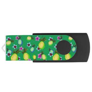 Dancing pineapples and frangipanis USB flash drive