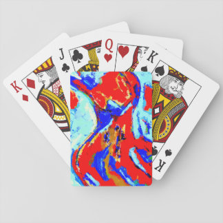 Dancing playing cards
