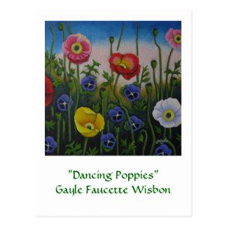 Dancing Poppies Postcard