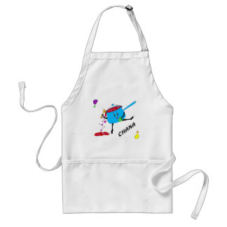 dancing pot with hearts 05 CHANA Standard Apron