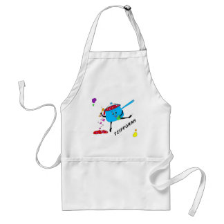 dancing pot with hearts 05 TZIPPORAH Standard Apron