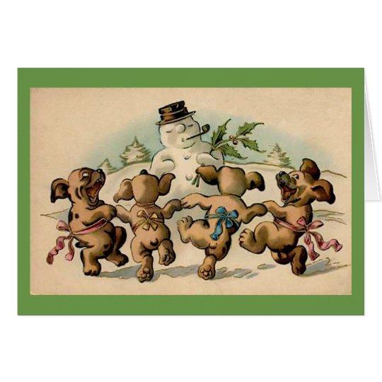 Dancing Puppies Card