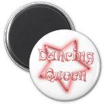 Dancing Queen Girls Pink Fridge Magnet