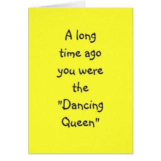 """DANCING QUEEN TO DENTURE QUEEN """"50th"""" BIRTHDAY Card"""