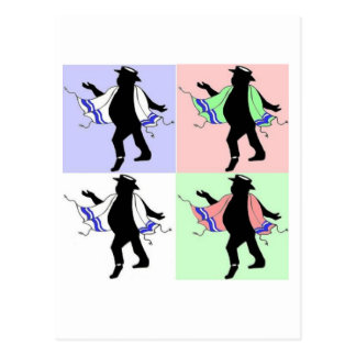 Dancing Rabbi Style Postcard