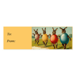 Dancing Rabbits Easter basket gift tags Mini Business Card