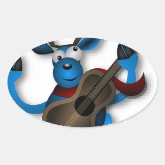 Dancing_Reindeer2222 Oval Sticker