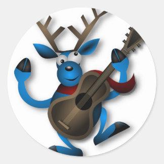 Dancing_Reindeer2222 Round Sticker