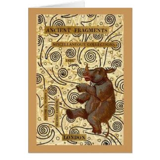 Dancing Rhino Card