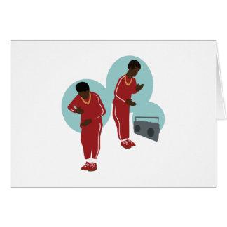 Dancing Robot Boys Card