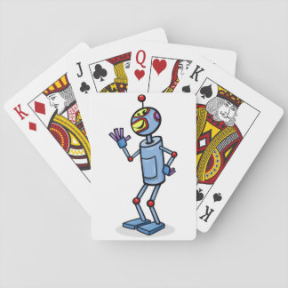 Dancing Robot Playing Cards