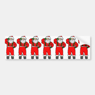 Dancing Santa Bumper Sticker