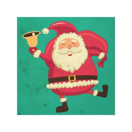 Dancing Santa Stretched Canvas Print
