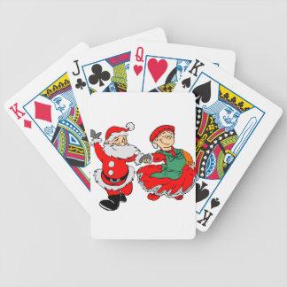 Dancing Santa claus Bicycle Playing Cards