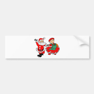 Dancing Santa claus Bumper Sticker