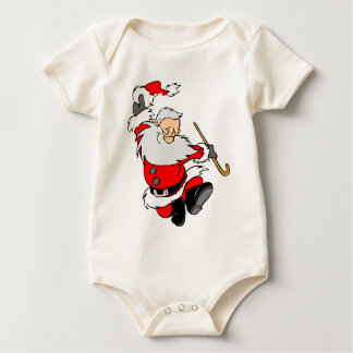 Dancing Santa Claus on Christmas Baby Bodysuit