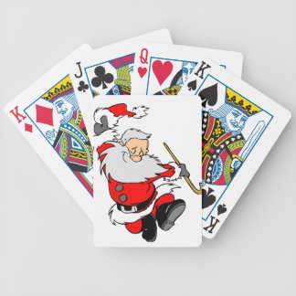 Dancing Santa Claus on Christmas Bicycle Playing Cards