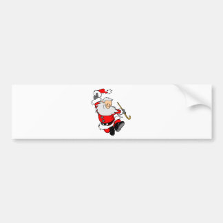 Dancing Santa Claus on Christmas Bumper Sticker
