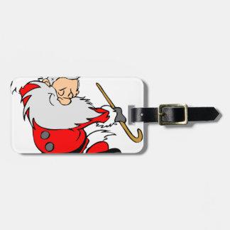 Dancing Santa Claus on Christmas Luggage Tag