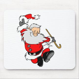Dancing Santa Claus on Christmas Mouse Pad