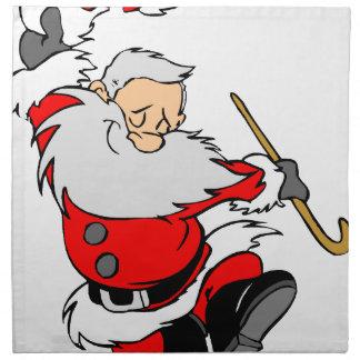 Dancing Santa Claus on Christmas Napkin