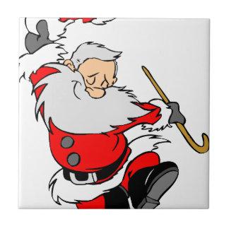Dancing Santa Claus on Christmas Tile