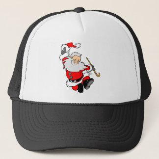 Dancing Santa Claus on Christmas Trucker Hat