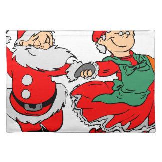 Dancing Santa claus Placemat