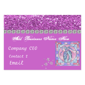DANCING SCHOOL School Glam Business Card