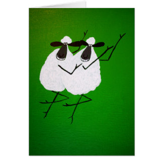 Dancing Sheep Greeting Card