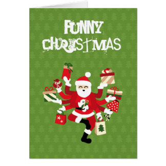 Dancing Shiva Claus - Spruce Forest Card