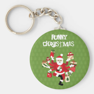 Dancing Shiva Claus - Spruce Forest Keychain
