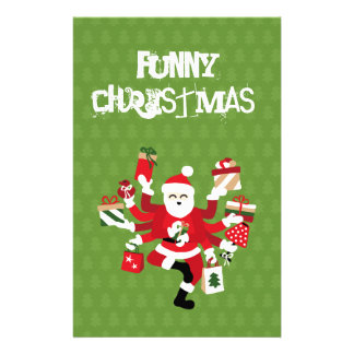 Dancing Shiva Claus - Spruce Forest Stationery