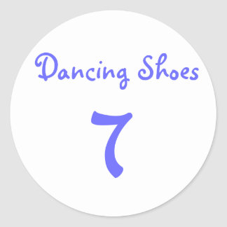 Dancing Shoes, 7 Classic Round Sticker