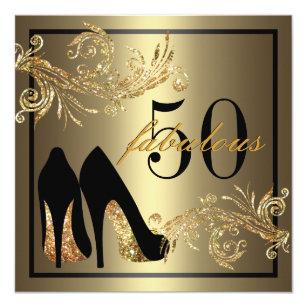 50th Birthday Invitations Announcements Zazzle CA